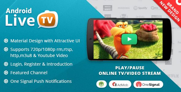 Android Live TV with Material Design | Codecanyon collections