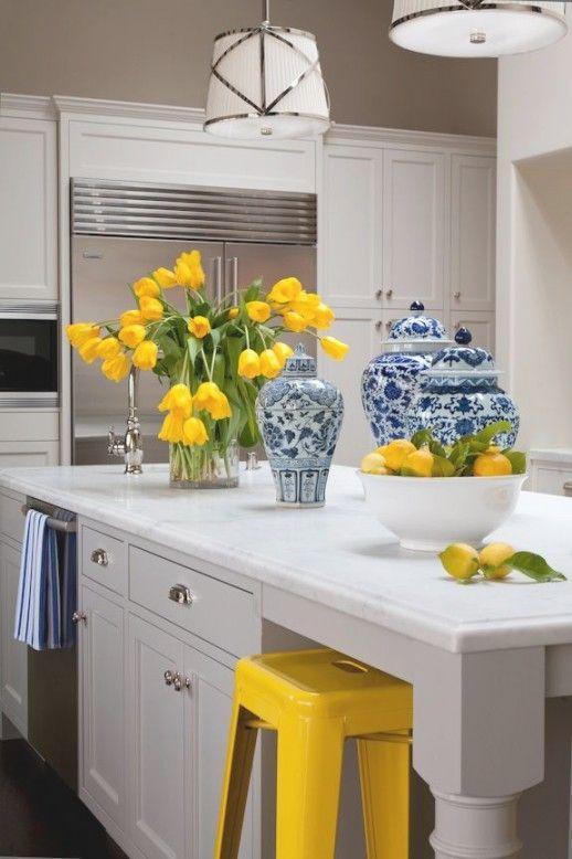 Blue Yellow Kitchens Ideas On Pinterest
