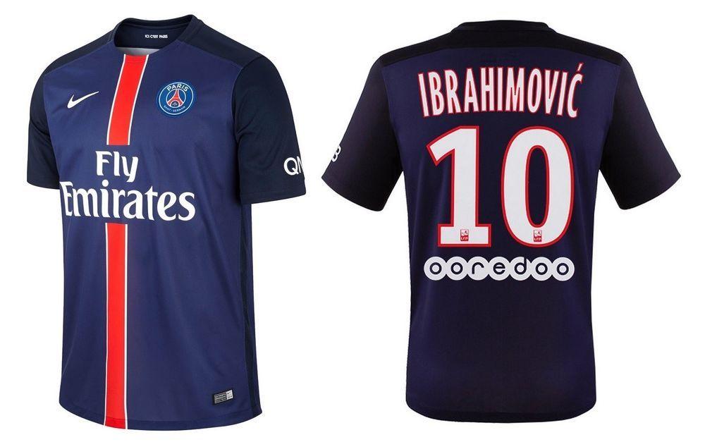 Trikot Nike Paris Saint-Germain 2015-2016 Home - Ibrahimovic 10   PSG Zlatan 3f6720e0dd16c