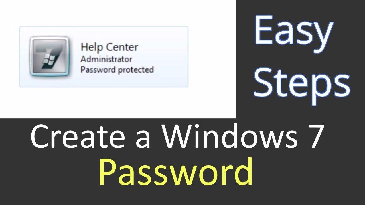 Set or Create a Password on Windows 7? PCGUIDE4U