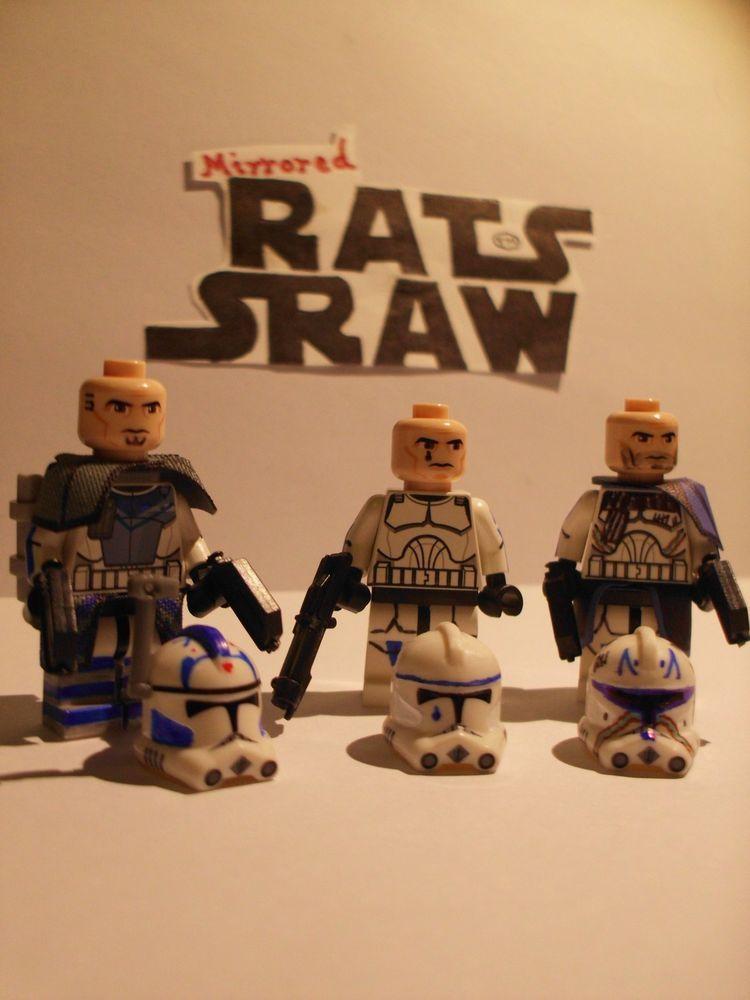 Lego Star Wars minifigures - Clone Custom ARC Tpr Fives, Tpr Tup ...