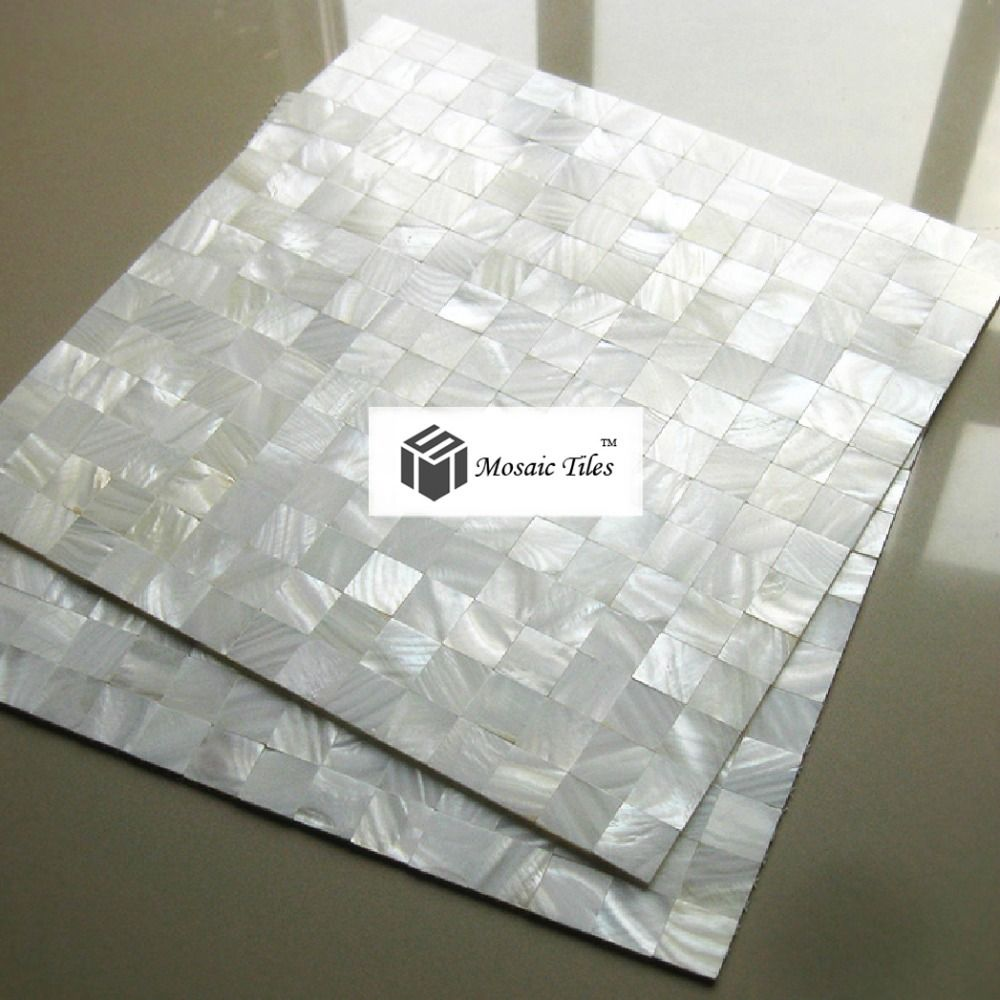 Aliexpress Com Buy 5sf Mother Of Pearl Mosaic Tile Kitchen Backsplash 12x12 Bathroom Mirror Wall Sho Pearl Tile Patterned Tile Backsplash Mosaic Tile Kitchen