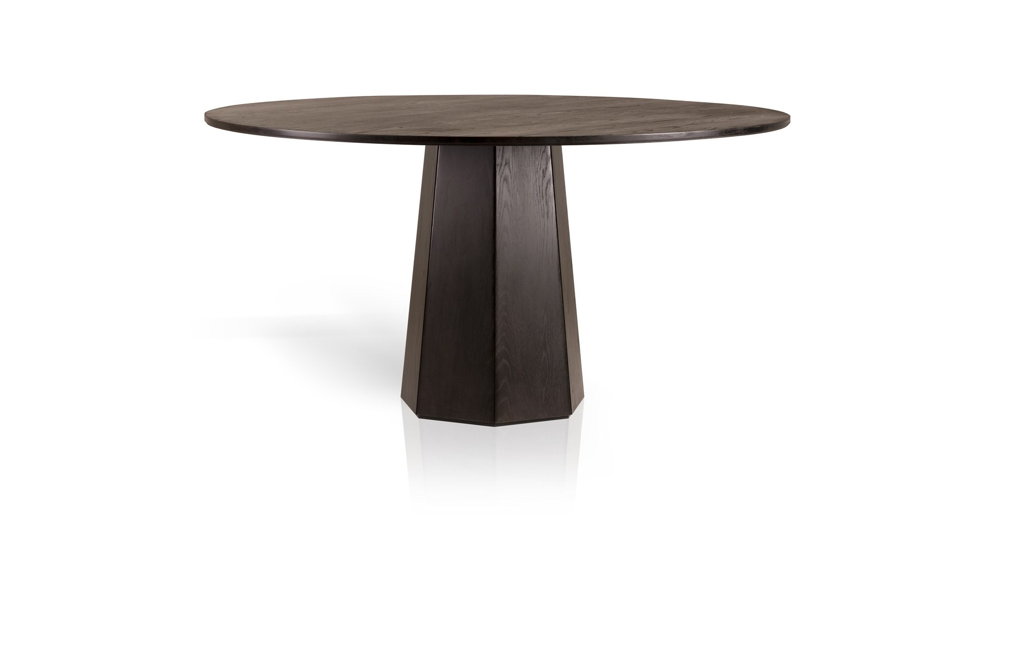 Fabulous Dark Brown Octagonal Pedestal Base Round Top As Coffee Table Ideas With Simple Designs