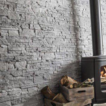plaquette de parement beton gris clair