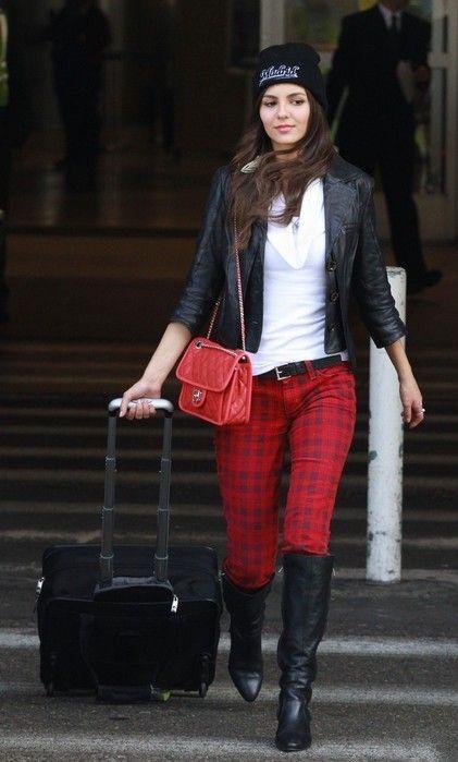 a0071d102c12b fashion plaid pockets pants, red check Tartan leggings pants ...