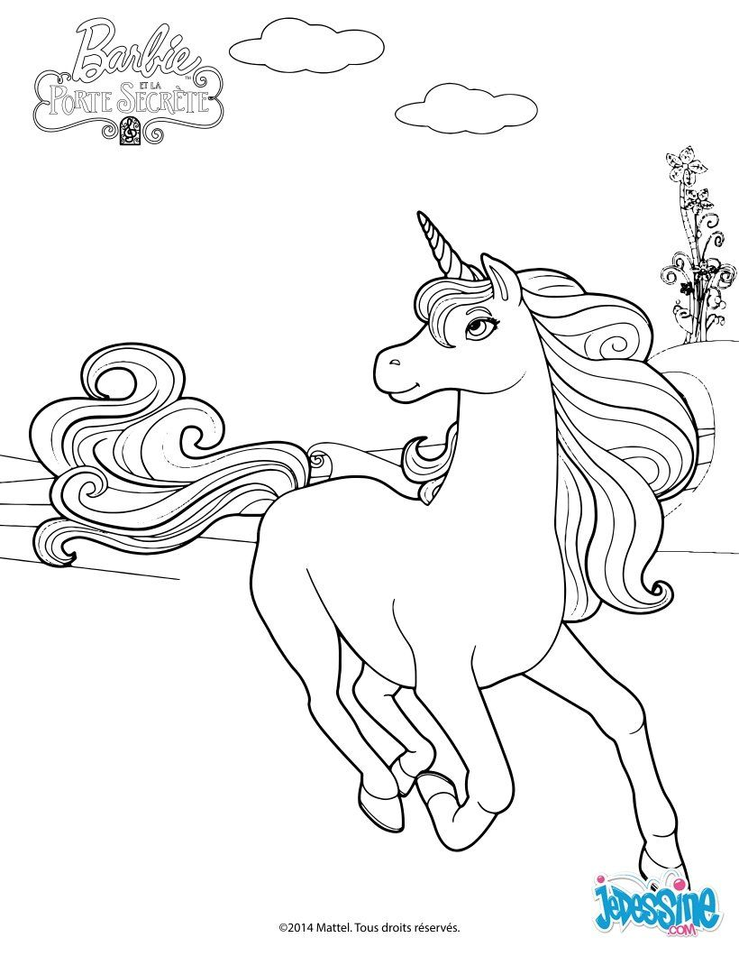Mia and me unicorn coloring pages - Barbie Barbie