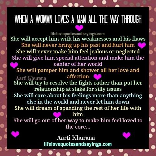 When A Man Loves A Woman Quotes by @quotesgram | Quotes | Men love