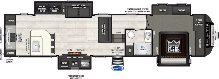Raptor Toy Haulers 425ts Floorplan Keystone Rv Rv Keystone