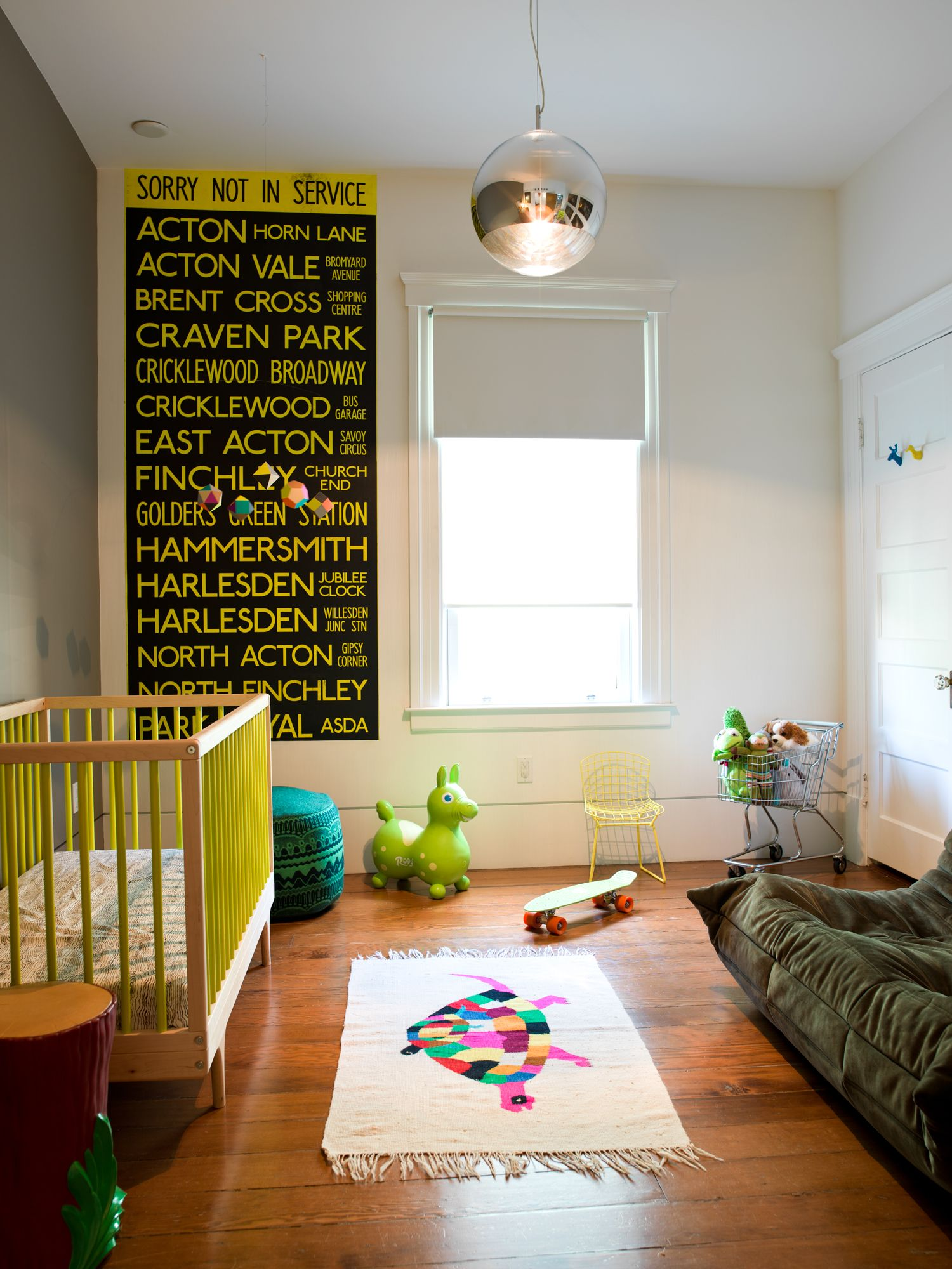 Nickos Room in Los Angeles with our YELLOW CARAVAN CRIB. Photo by Jason Madera. #kalon
