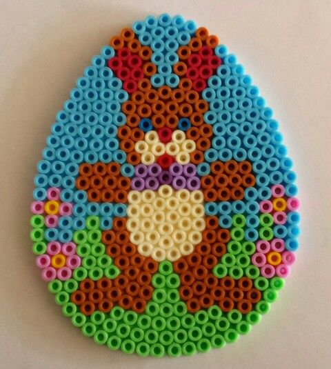 Easter egg hama beads by Sylvana