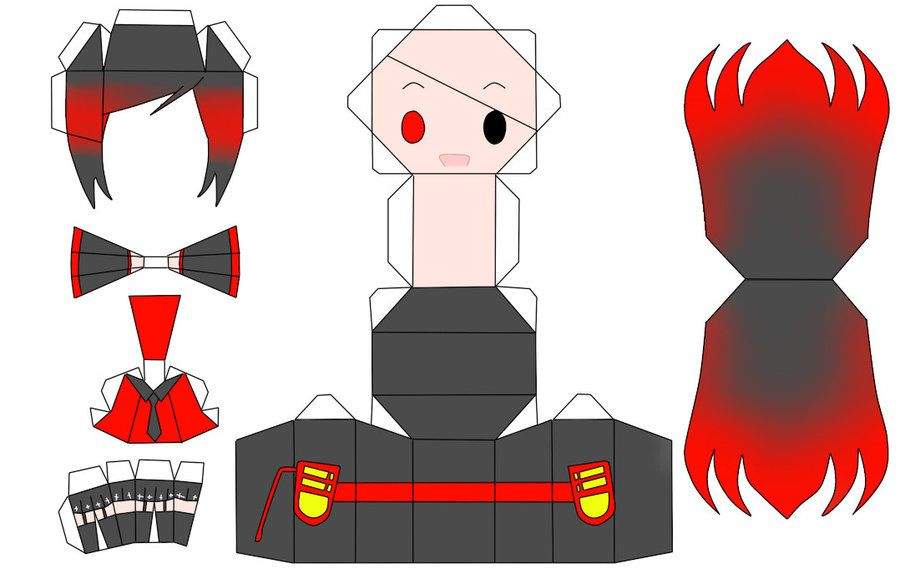 Anime Papercraft Templates  Google Search  Craft Paper