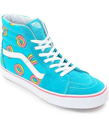 a18706da329a Vans Odd Future Sk8-Hi Scuba Blue Donut Shoe