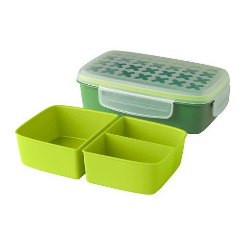 festm ltid lunchbox ikea durch zwei eins tze entstehen drei f cher z b zum trennen von salat. Black Bedroom Furniture Sets. Home Design Ideas