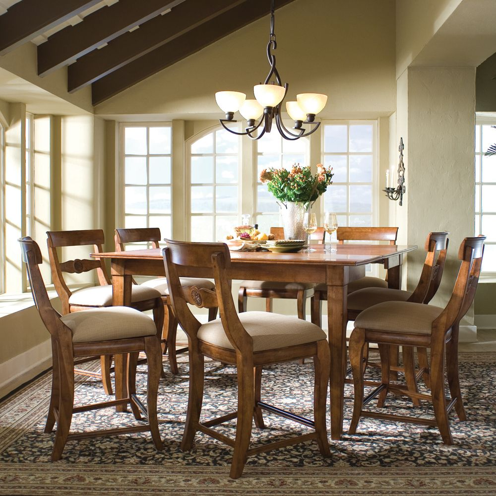 Tuscano Counter Height Dining Table & Stoolskincaid  Solid Classy Tall Dining Room Sets Design Decoration