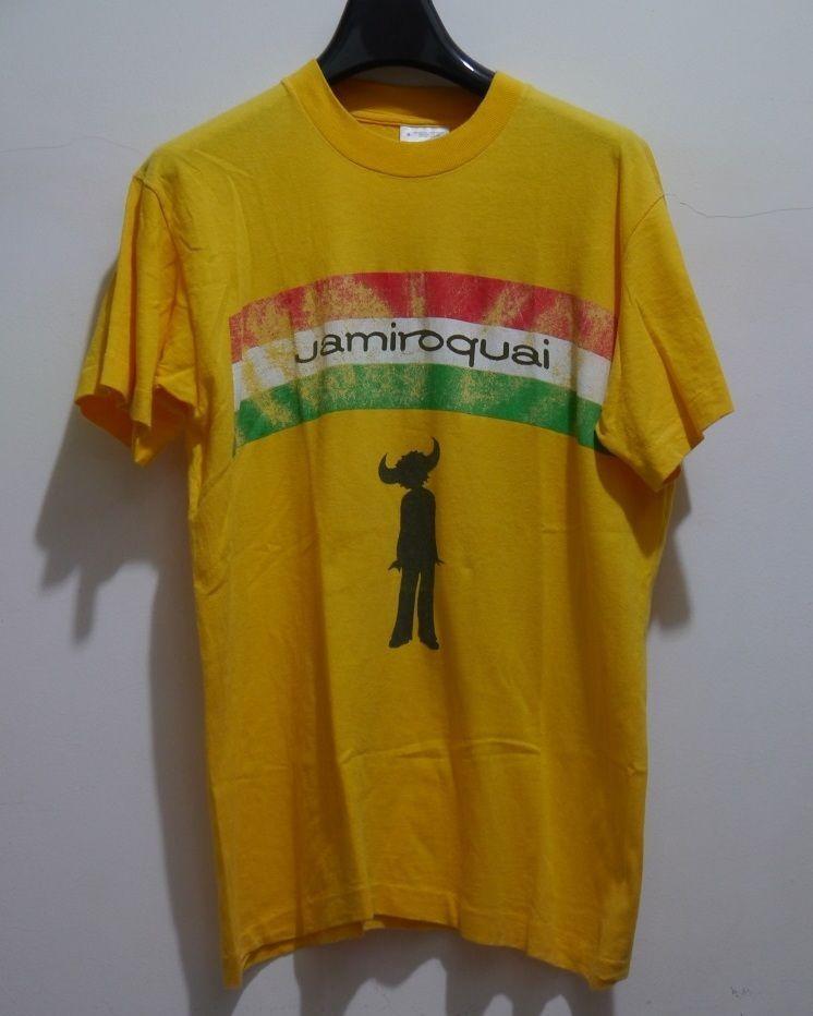 7644e2d2f02a8 vintage 90s JAMIROQUAI Jay Kay FUNK JAZZ POP DANCE t-shirt ...