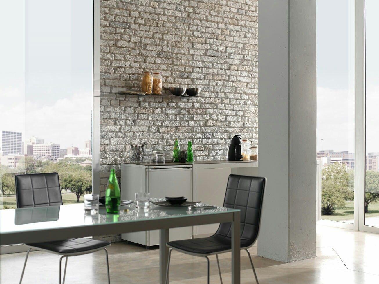 Panel ladrillo envejecido tipo loft for Imitacion ladrillo para interiores