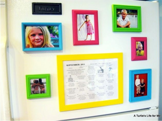 Fridge Photo Frame Magnets | Crafting | Pinterest | DIY, Frame and ...