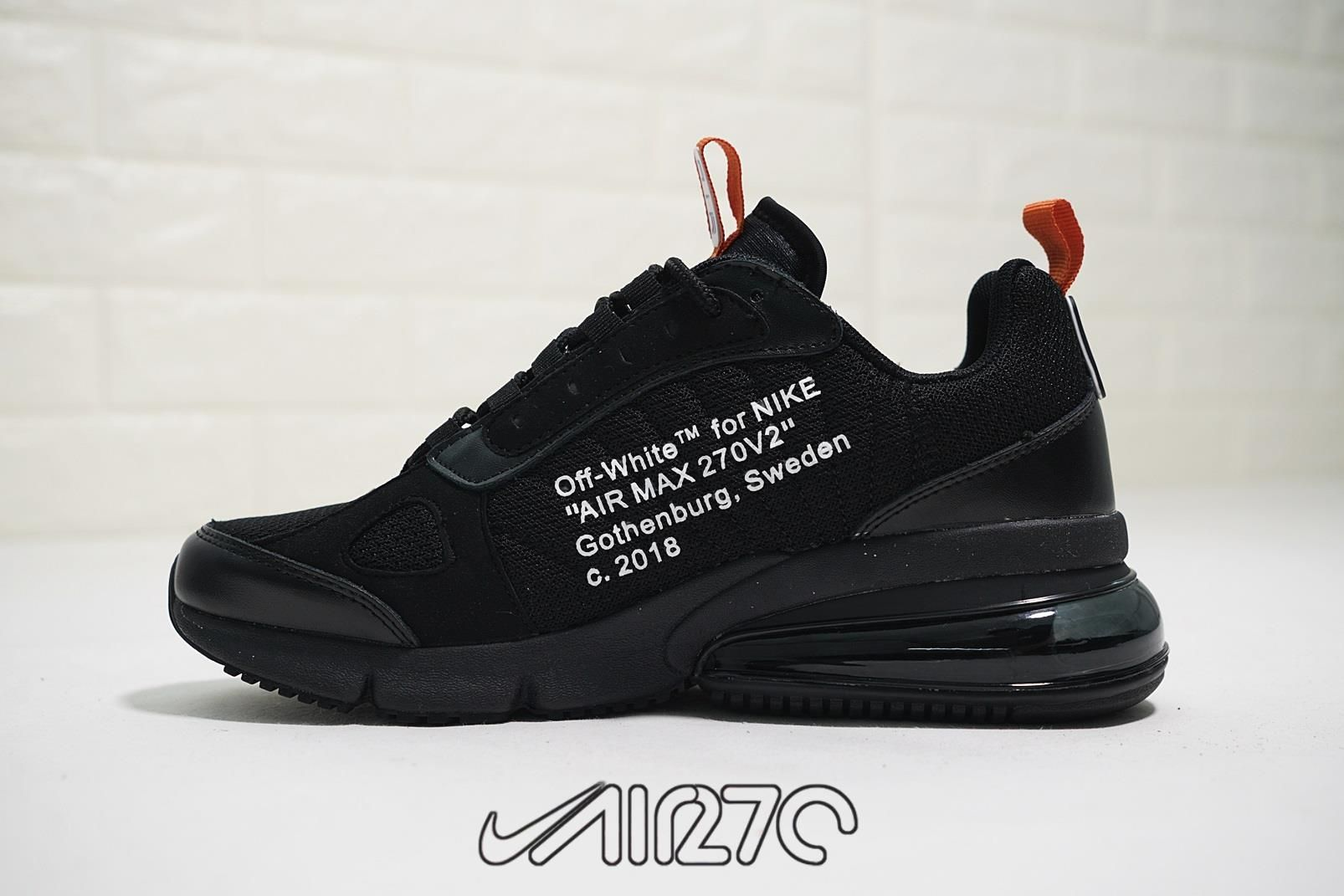 82e77d3256e3 Off-White x Nike Air Max 270 Futura Black-White in 2019 | Sneaker ...