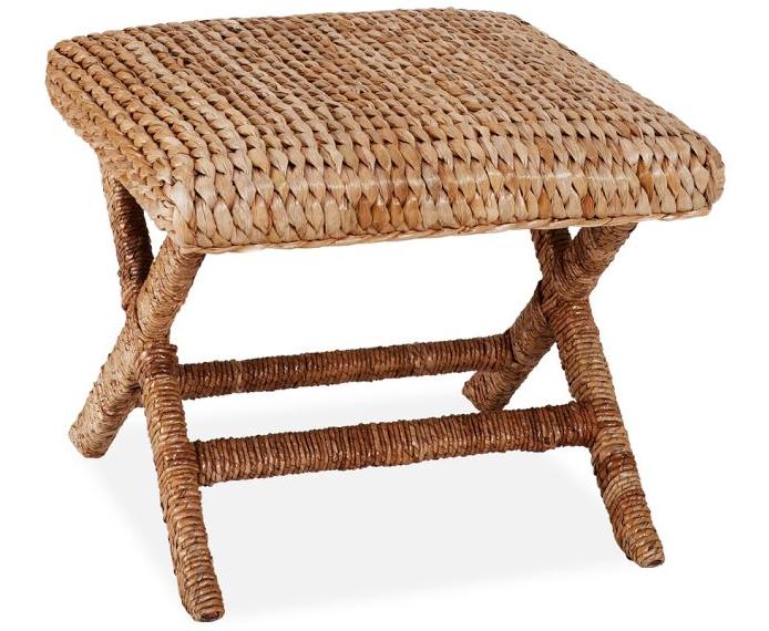 Seagrass Stool Pottery Barn Decor Vintage Patio Furniture Coastal Decor Rugs