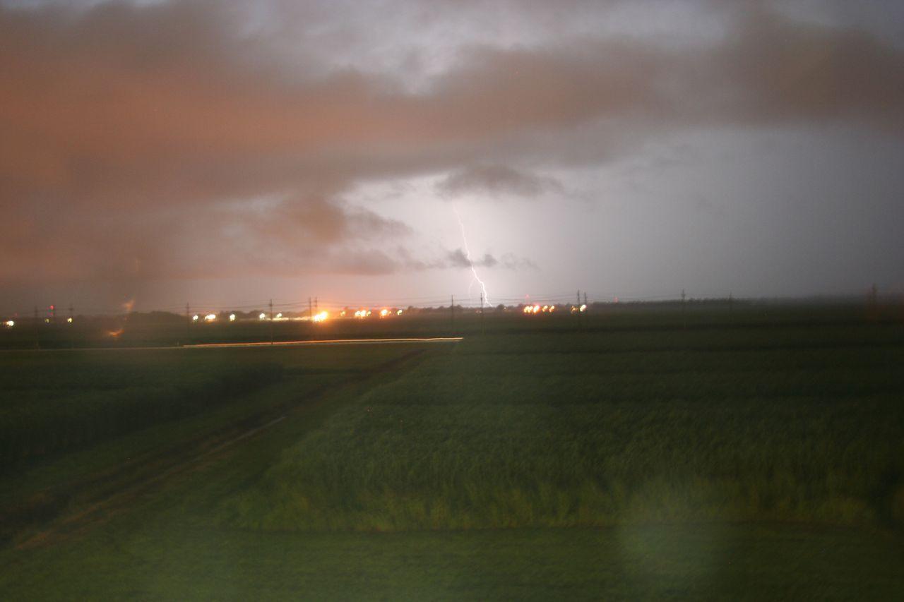 Storm over Thibodaux. It's night time...