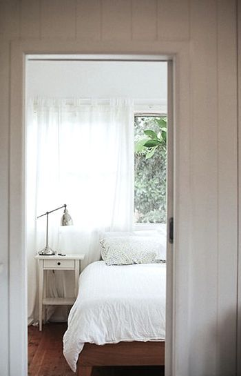 Clean Bedrooms Pleasing Clean Bedroom W Garden & Plants Outside  Future House Decorating Inspiration