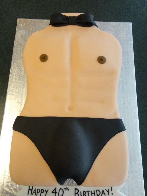 Chippendale 40th Birthday Cake