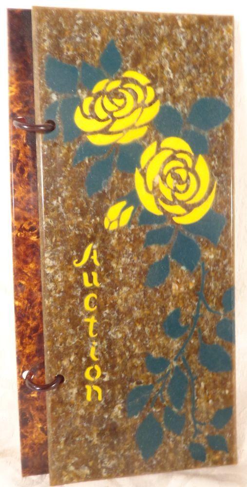 Vintage Auction Bridge Tally Score Pad Booklet Celluloid Case Auction Holder With Images Auction Bridge Tally Vintage