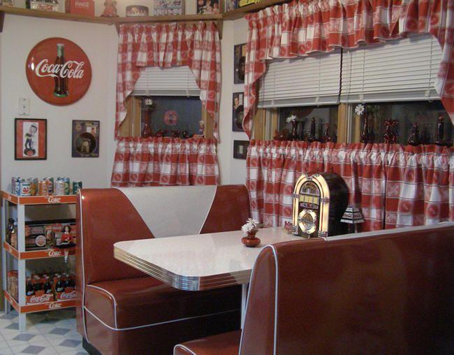 50s diner decor - Bing Images | Diner decor, Kitchen booths
