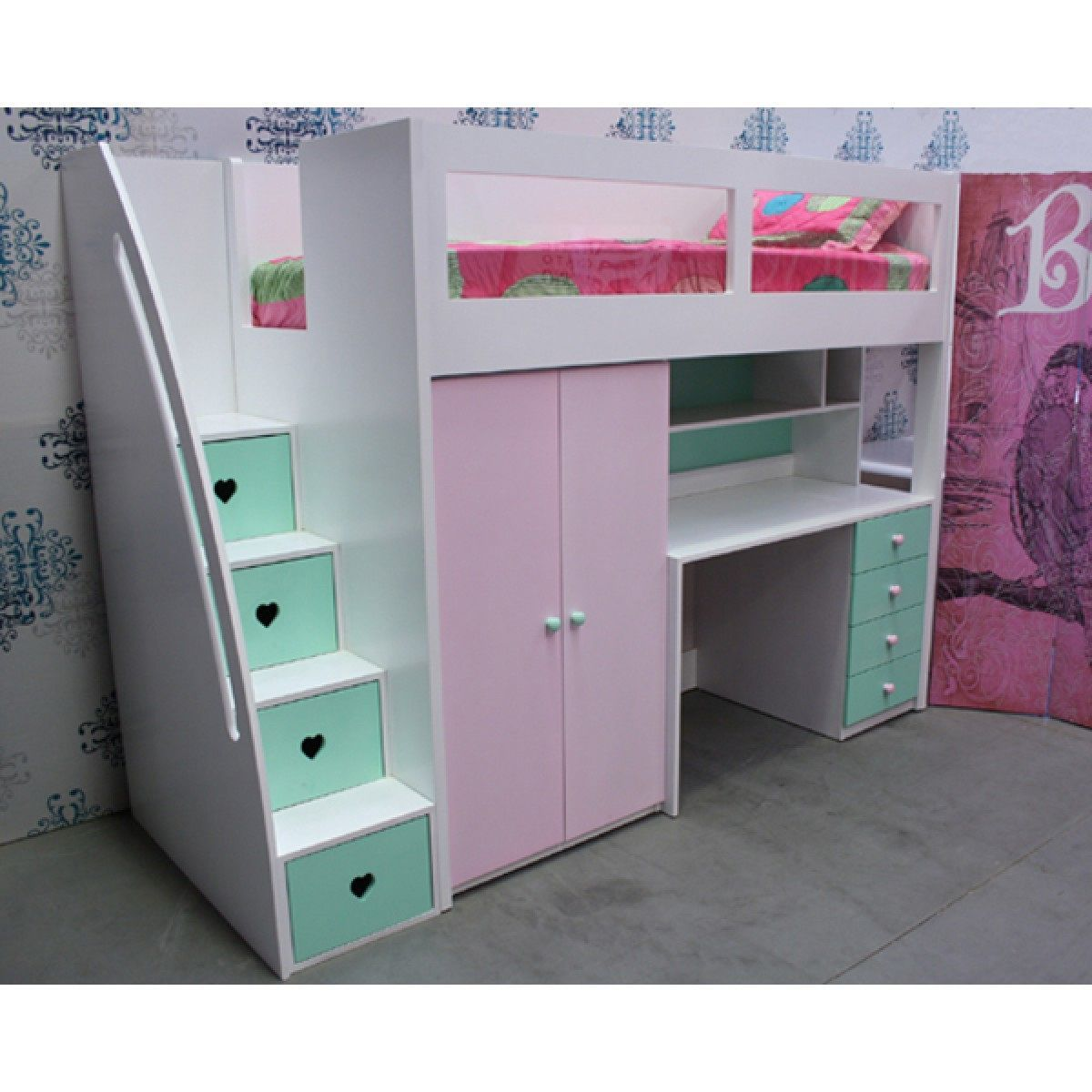 Mobby loft bed with stairs   Space Saver Bunk Bed  Bedroom Interior Designing Check more at