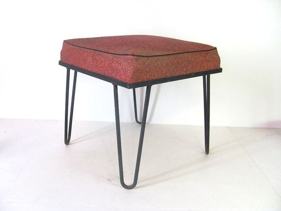 Vintage Mid Century Modern Square Footstool By Dirtybirdiesvintage 65 00 Producto