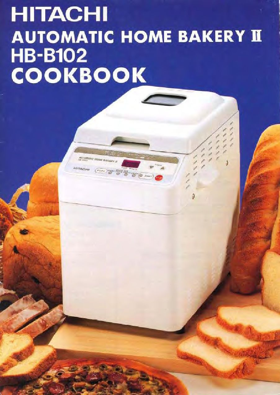 Hitachi HB-B102 Recipe Booklet -- I have the B101 but this should work as  well