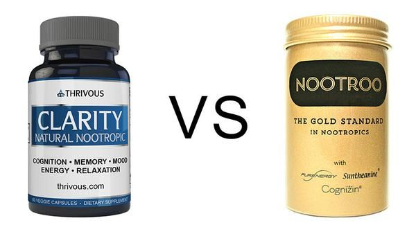 Nootroo Vs Thrivous Clarity Nootropics Brain Health Fitness