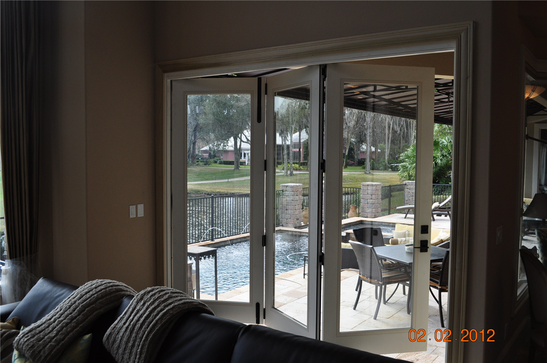 We Removed A 9 X 8 Sliding Glass Door In Plantation In Ponte Vedra Beach  And Installed This Energy Efficient, Fiberglass Folding Door System That  Allows The ...