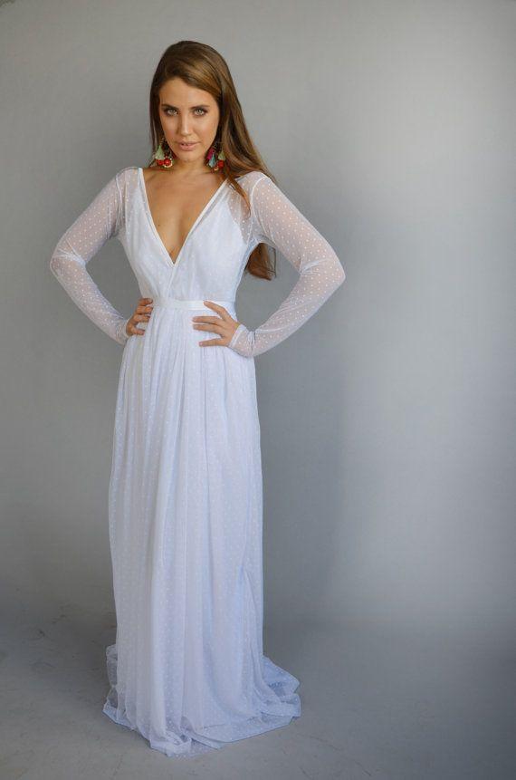 ce6a657633f Boho wedding dress