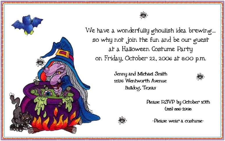 Funny Halloween Invitation Wording For Office Parties