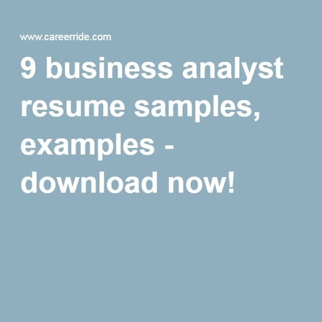 9 business analyst resume samples, examples - download now! Career - hospitality resume