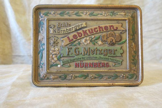 vintage old tin tins by MyVintageAngels on Etsy, $18.00