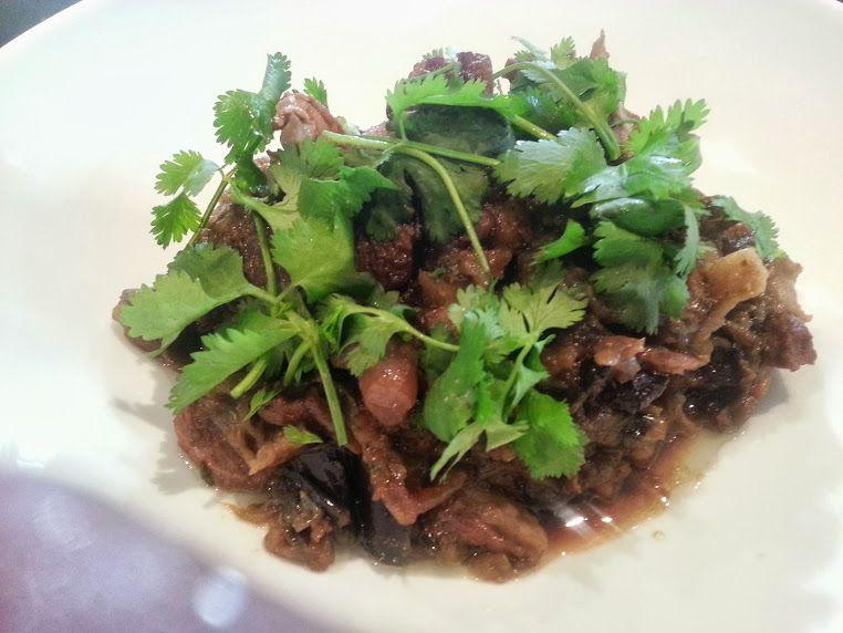 #Aubergine and #pork #hotpot ~fine #dining #foodporn #plating