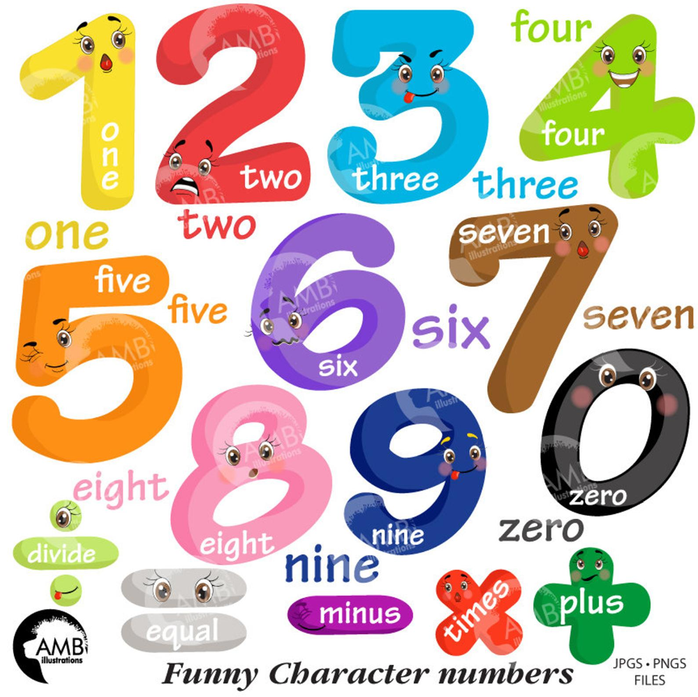 Funny Emoticon Numbers Clipart Number Faces Counting Numbers Etsy Learning Numbers Kids Learning Numbers Clip Art [ 999 x 1000 Pixel ]