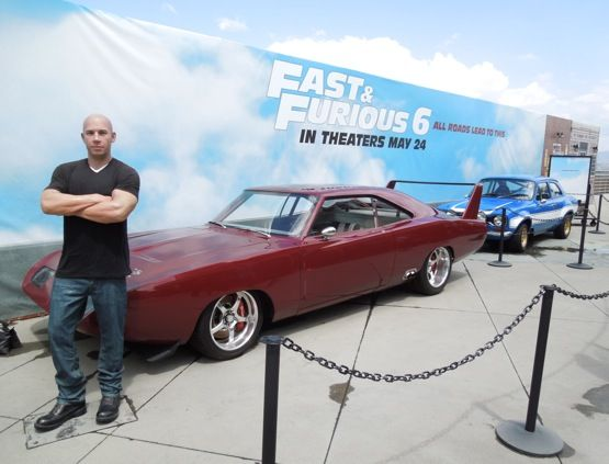 Fast Furious 6 Cars And Vin Diesel Waxwork On Display Vin