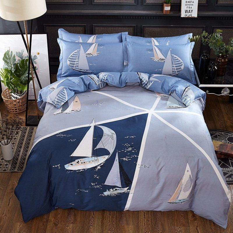 Blue and White Nautical #Bedding #Bedspread #Bedroom Sets | Twin