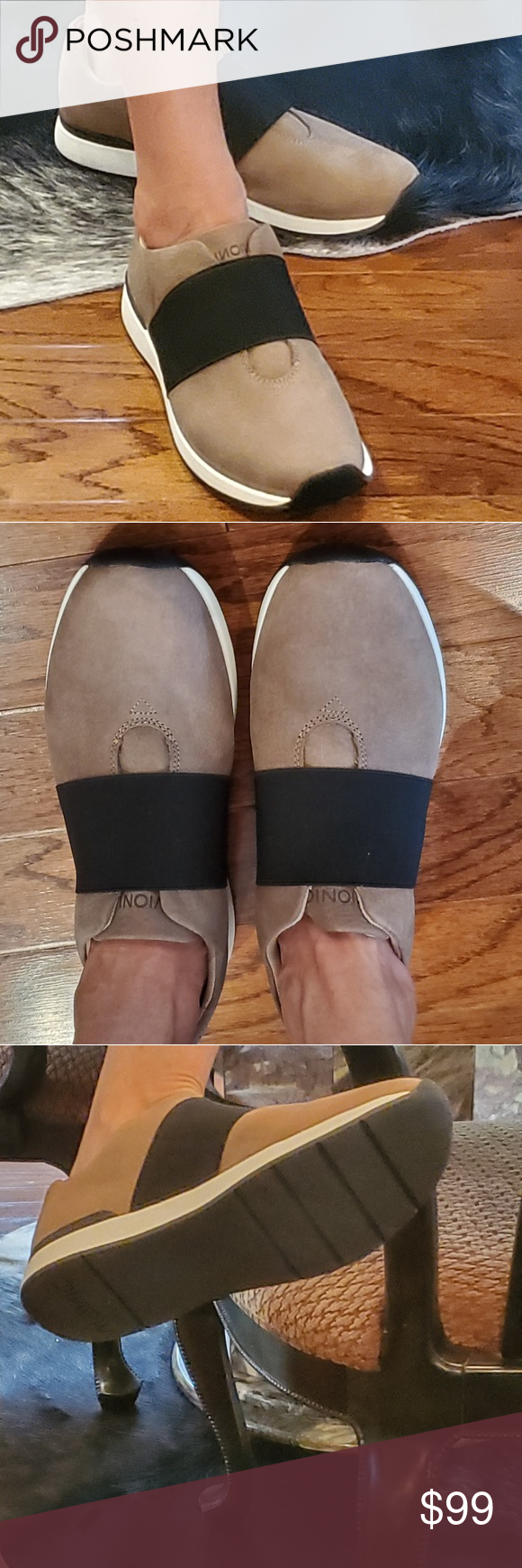 Vionic Codie Taupe Sneaker for All Day