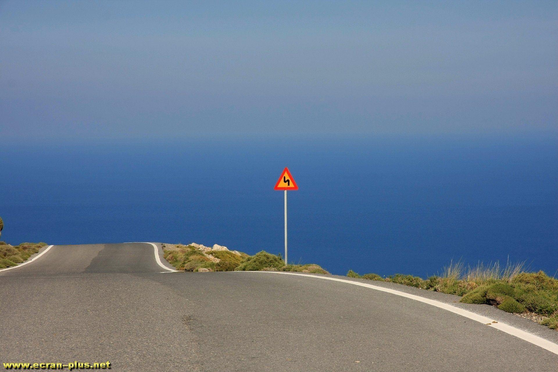 Route entre Kalo Nero et Kapsas - Crete - Grece
