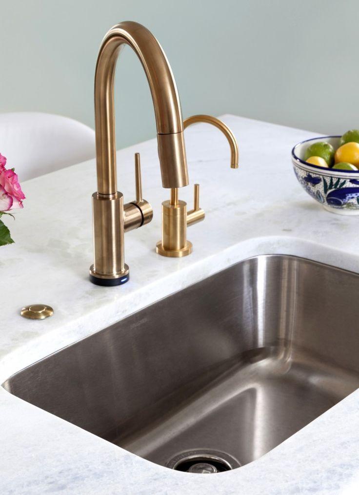 Delta Trinsic Faucet In Champagne Bronze Kitchen By Design - Champagne bronze bathroom faucet for bathroom decor ideas