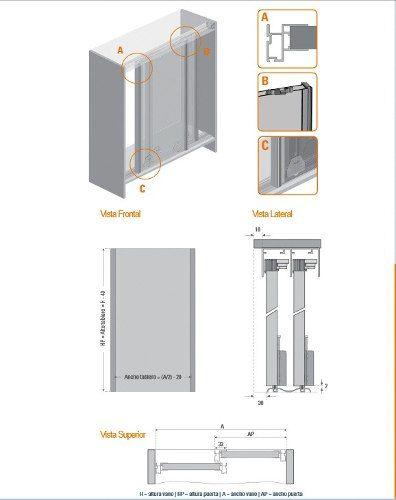 Sistema de rieles para puertas corredizas buscar con - Rieles para puertas ...