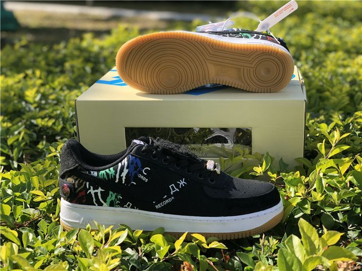 Black Travis Scott S Nike Af 1 Low Cactus Jack Kaktyc A Ek Records
