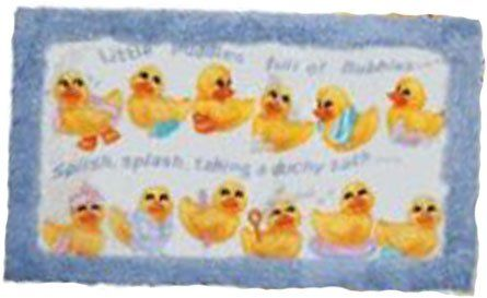 Amazon.com   Squeaky Clean Ducks Bath Rug/Mat   Rubber Ducky Bathroom Decor