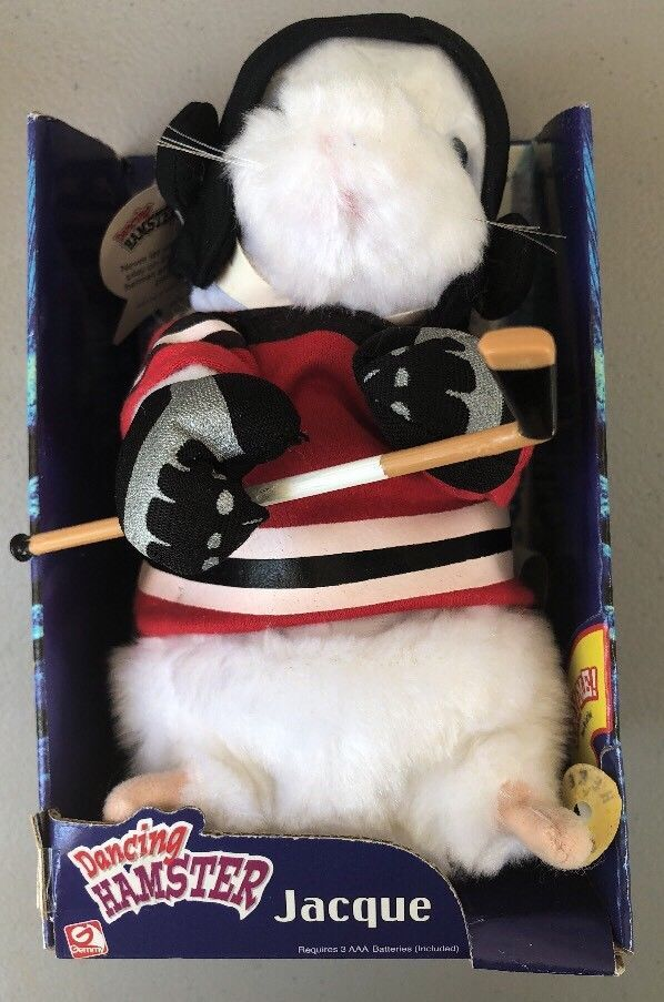Gemmy Jacque Dancing Hamster Hockey Singing Ice Ice Baby