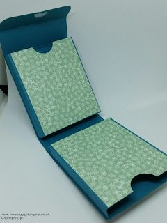 Ann's Happy Stampers: Double Fold Shut Treat Box Using Blooms & Wishes DSP