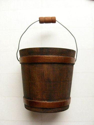 Wood Bucket - Rustic decorative bucket, autumn decor, wedding, party favor, copper bucket. $7.00, via Etsy.